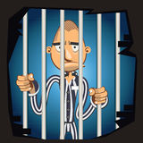 Prisoner in Jail. Illustration Of Prisoner in Jail Royalty Free Stock Image