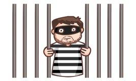 The prisoner in the jail. Prisoner in the jail  illustration Stock Image