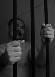 Prisoner in jail Stock Images