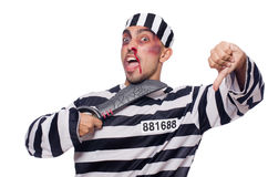Prisoner with knife Stock Image
