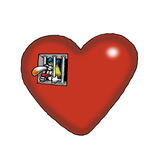Prisoner of Love. A woman is in heart shaped prison Royalty Free Stock Photos