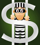 Prisoner of money Royalty Free Stock Image