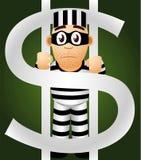Prisoner of money Royalty Free Stock Image