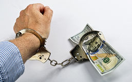 Prisoner of Money. Royalty Free Stock Images
