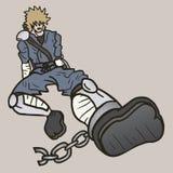 Prisoner ninja Stock Image