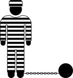 Prisoner pictogram Stock Image