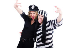 Prisoner and police Stock Photos