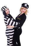 Prisoner and police Stock Image