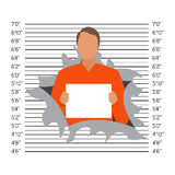 Prisoner in police lineup backdrop, illustration,  Stock Photography