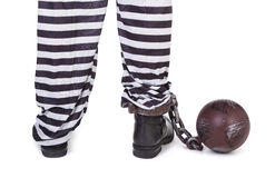 Prisoner's legs Stock Images