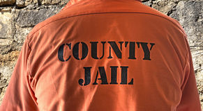 Prisoner shirt. Close up of a prisoner shirt Stock Image