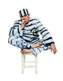The prisoner smokes  cigarette Royalty Free Stock Photos