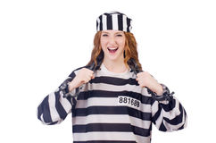 Prisoner in striped uniform Royalty Free Stock Photo