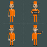 Prisoner in various poses concepts Stock Photography