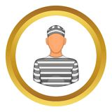 Prisoner vector icon Royalty Free Stock Images