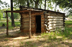 Prisoner of war log cabin Stock Images