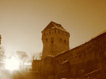 Prisoners tower in the sun. Royalty Free Stock Images