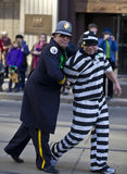 Prisonner  , st patrick's day parade Stock Photo
