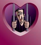 Prisonnier de l'amour Photo stock
