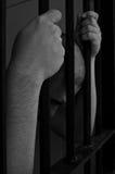 Prisonnier en prison image libre de droits