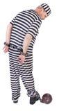 Prisonnier sur le blanc - vue par derrière Images stock