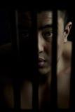 Prisonnier triste Photographie stock