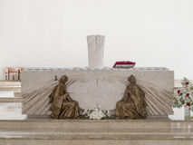 PRISTINA, КОСОВО - ИЮНЬ 2016: Римско-католический собор благословленной матери Тереза стоковое фото rf
