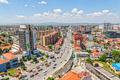Pristina new buildings aerial Stock Photos