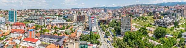 Pristina panoramy widok z lotu ptaka Fotografia Stock
