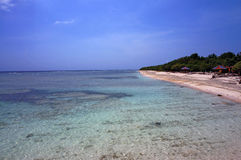 Pristine azure waters of Bali Sea Royalty Free Stock Image