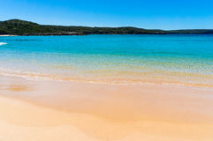 Pristine beach with clear water Stock Image