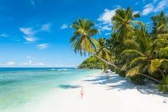 Pristine Beach in Seychelles Stock Image
