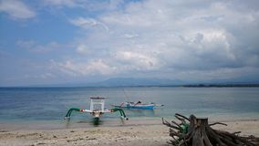 Pristine beach of Indonesia Royalty Free Stock Images