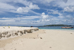 Pristine beach at Jolly buoy Island, Port Blair Royalty Free Stock Photo