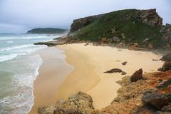 Pristine Beach at a South African Coastal Reserve Royalty Free Stock Photos