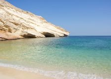Pristine Tropical Beach View in Oman royalty free stock images