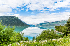 Pristine Blue Alaskan Lake Stock Photo