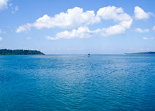 Pristine blue sea at Havelock Island. Shot from the Havelock Jetty Royalty Free Stock Photography