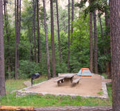 A pristine campsite at sedona Royalty Free Stock Photography