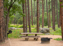 A pristine campsite at sedona Royalty Free Stock Images