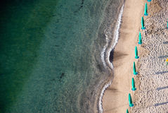 Pristine clorful Italian beach scen Royalty Free Stock Photos