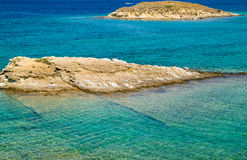 The pristine coastline and crystal clear water of the island of Royalty Free Stock Photo