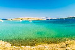 The pristine coastline of the island of Rab. Royalty Free Stock Photos