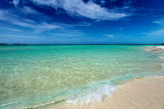 Pristine Cuban beach in Cayo Coco Royalty Free Stock Photography