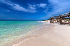 Pristine Cuban beach in Cayo Coco Stock Photo