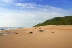 Pristine deserted beach Stock Photo