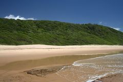 Pristine deserted beach Royalty Free Stock Image