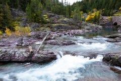 Pristine glacial river flow Stock Photo