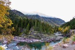 Pristine glacial river flow Stock Images