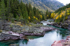 Pristine glacial river flow Royalty Free Stock Photography